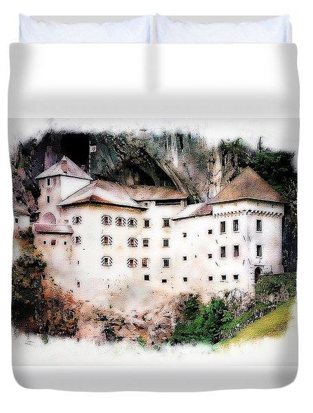 Predjama Castle, Predjama Slovenia Duvet Cover