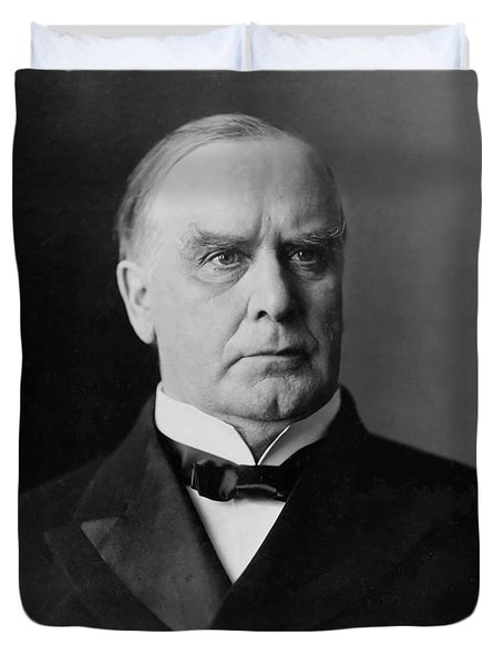 President William Mckinley Duvet Cover by War Is Hell Store