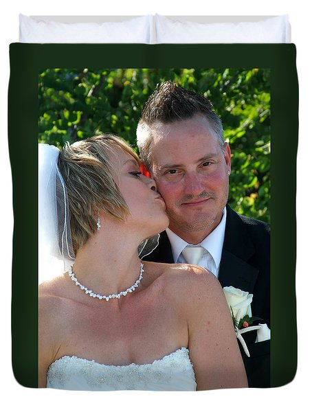 Rebecca And David Duvet Cover