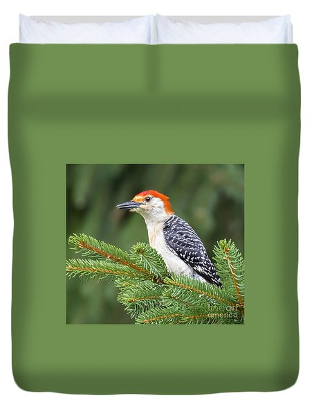 Duvet Cover featuring the photograph Red-bellied Woodpecker by Ricky L Jones
