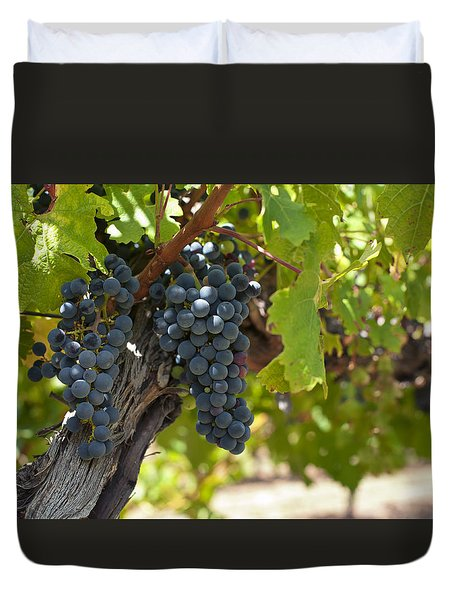 Duvet Cover featuring the photograph Red Vines by Ulrich Schade