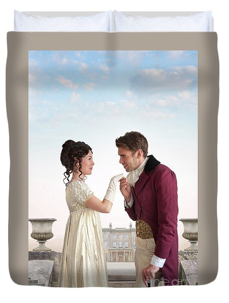 Regency Couple  Duvet Cover