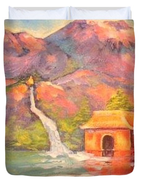 3 Rivers Temple Duvet Cover