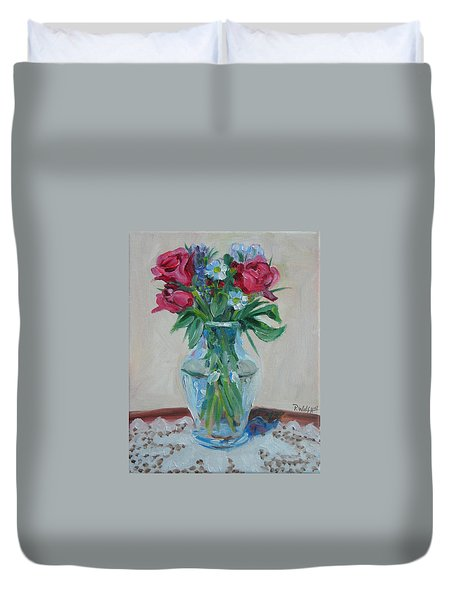 3 Roses Duvet Cover by Paul Walsh