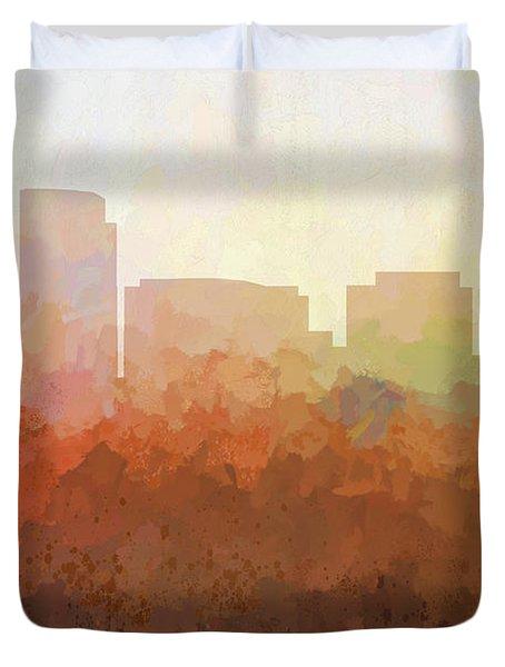 Duvet Cover featuring the digital art Rosslyn Virginia Skyline by Marlene Watson