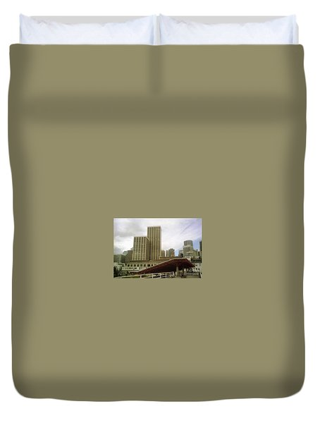 San Francisco Port Duvet Cover