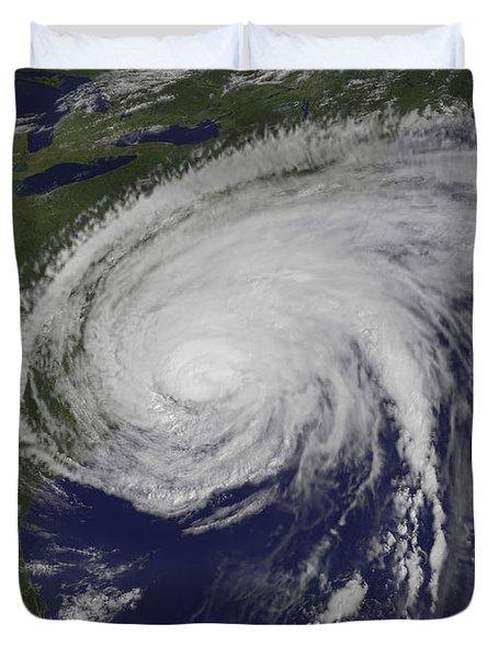 Satellite View Of Hurricane Irene Duvet Cover