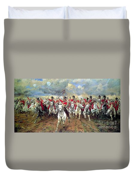 Duvet Cover featuring the painting Scotland Forever by Celestial Images