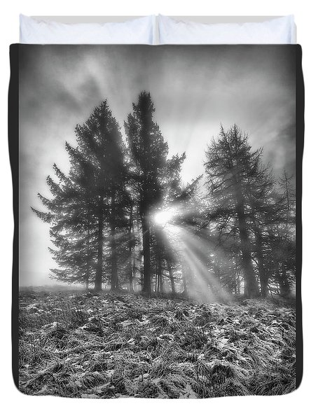Duvet Cover featuring the photograph Scottish Sunrise by Jeremy Lavender Photography