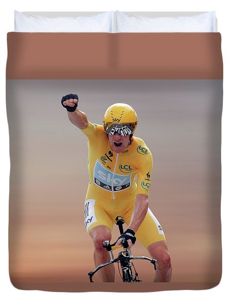 Sir Bradley Wiggins 4 Duvet Cover