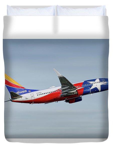 Southwest Airlines Boeing 737-7h4 Duvet Cover