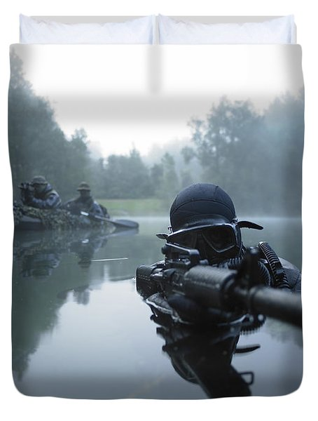 Duvet Cover featuring the photograph Special Operations Forces Combat Diver by Tom Weber