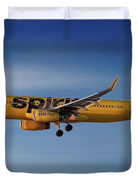 Spirit Airlines Airbus A320-232 Duvet Cover