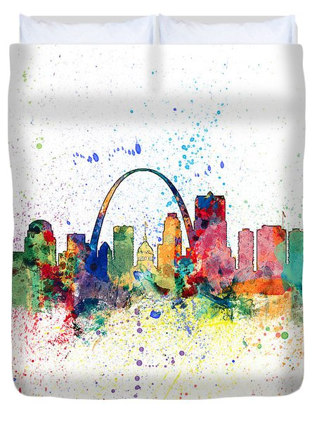 St Louis Missouri Skyline Duvet Cover