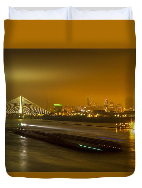 St Louis Skyline And Arch Duvet Cover