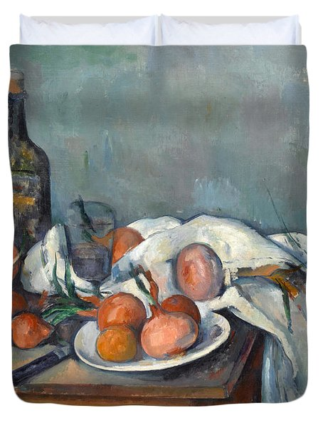 Still Life With Onions  Duvet Cover