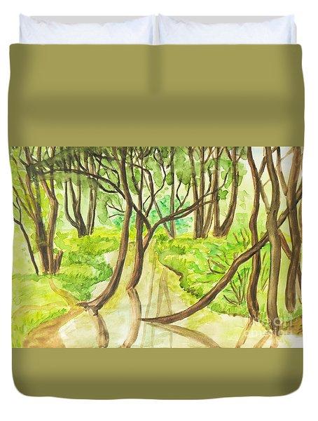 Summer Landscape, Painting Duvet Cover