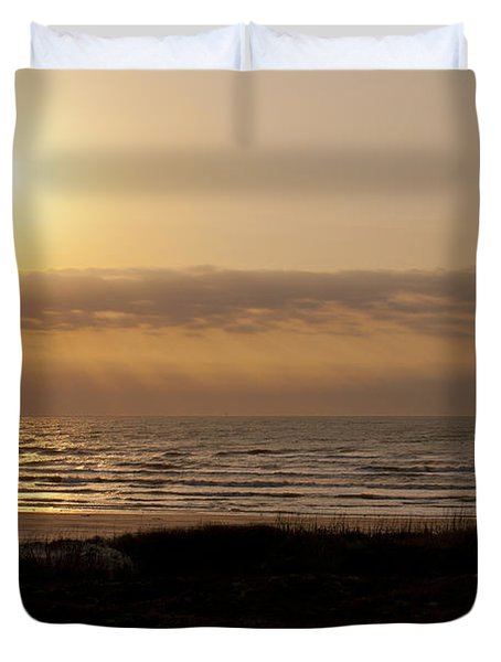 Sunrise At Beach Duvet Cover