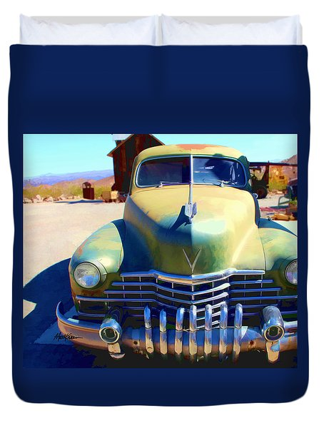 Duvet Cover featuring the photograph Techatticup Mine Ghost Town Nv by Marti Green