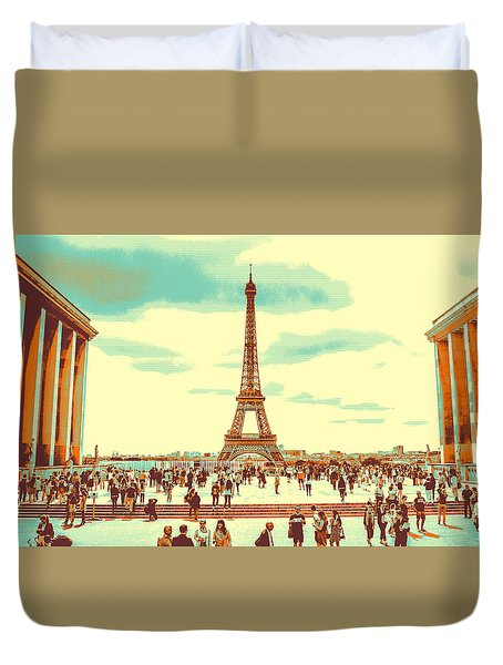 The Eiffel Tower Duvet Cover