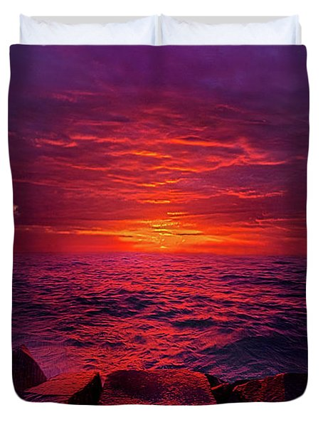 Duvet Cover featuring the photograph The Path by Phil Koch