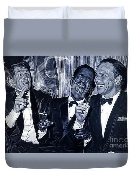 The Rat Pack Collection Duvet Cover by Marvin Blaine