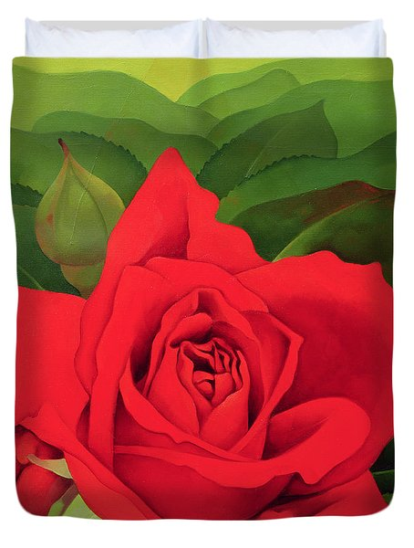 The Rose Duvet Cover by Myung-Bo Sim