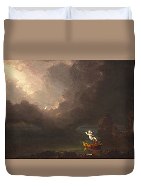 The Voyage Of Life Old Age Duvet Cover