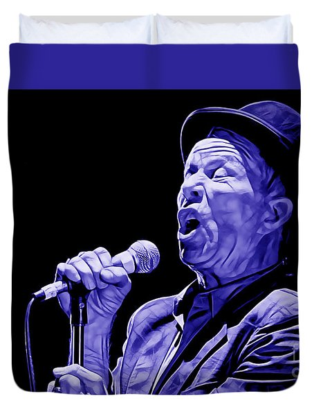 Tom Waits Collection Duvet Cover by Marvin Blaine