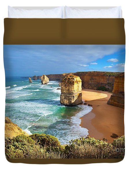 Twelve Apostles Great Ocean Road Duvet Cover by Bill  Robinson