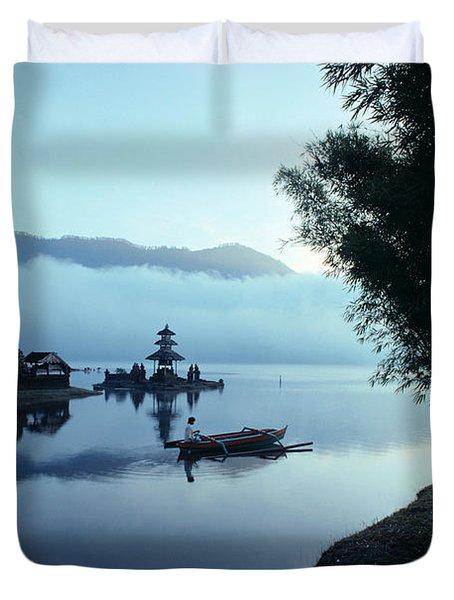 Ulu Danu Temple Duvet Cover by William Waterfall - Printscapes