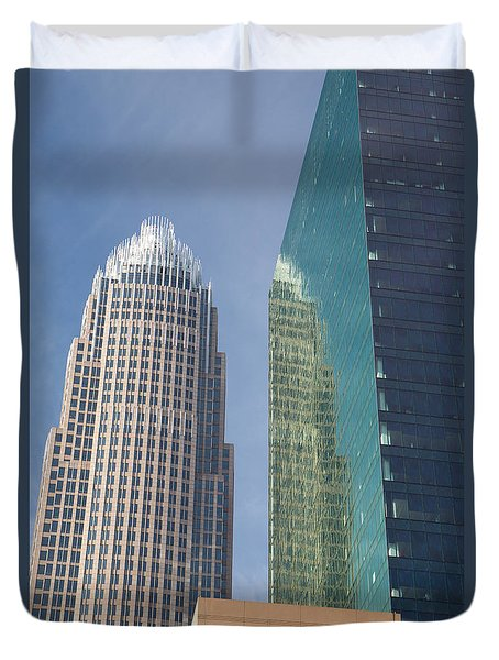 Uptown Charlotte, North Carolina Duvet Cover by Kevin McCarthy