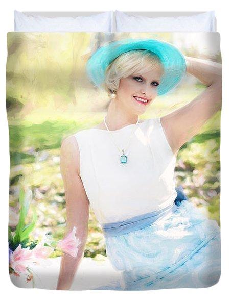 Vintage Val Magnolias Duvet Cover