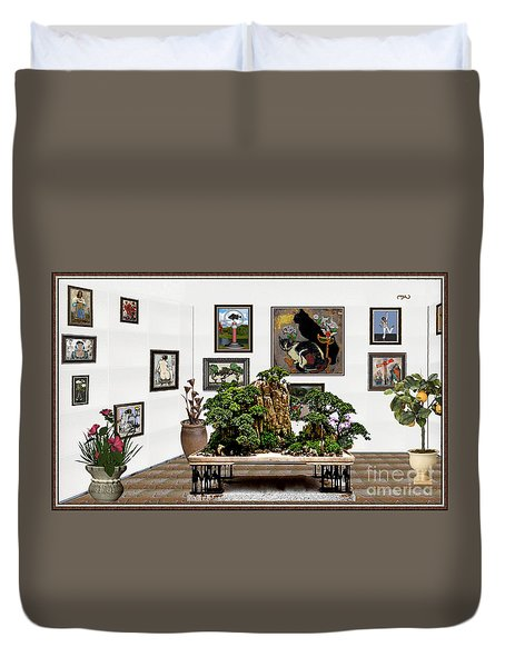 Virtual Exhibition -  Bonsai 16 Duvet Cover by Pemaro