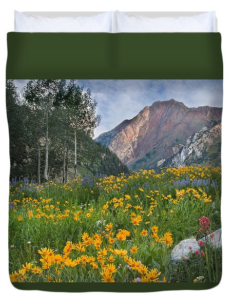 Wasatch Mountains Duvet Cover by Utah Images