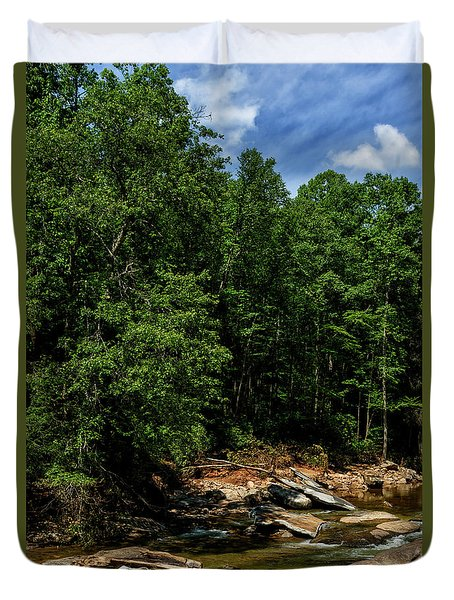 Duvet Cover featuring the photograph Williams River After The Flood by Thomas R Fletcher