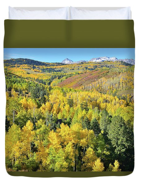 Duvet Cover featuring the photograph Wilson Mesa by Ray Mathis