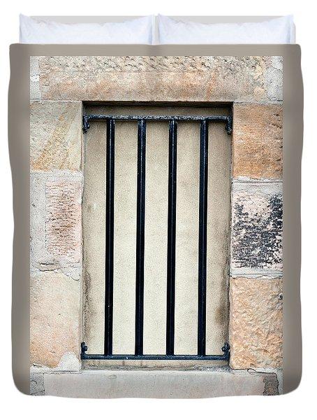 Window Bars Duvet Cover