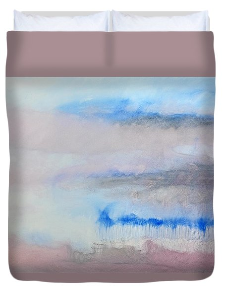 Duvet Cover featuring the painting Winter by Charles Stuart