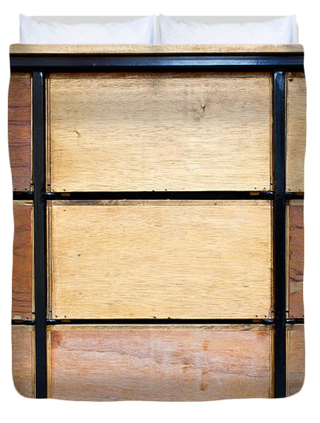 Wooden Crates Duvet Cover