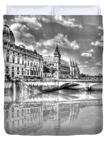 Yury Bashkin Paris Duvet Cover by Yury Bashkin