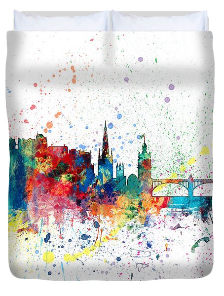 Edinburgh Scotland Skyline Duvet Cover