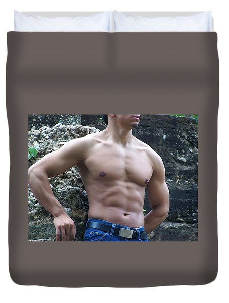 Duvet Cover featuring the photograph The Poser by Jake Hartz
