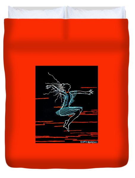 Dinka Dance - South Sudan Duvet Cover