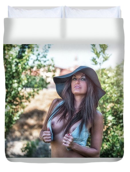 Duvet Cover featuring the photograph .. by Traven Milovich