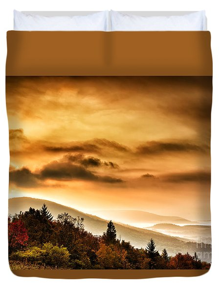 Allegheny Mountain Sunrise Duvet Cover by Thomas R Fletcher