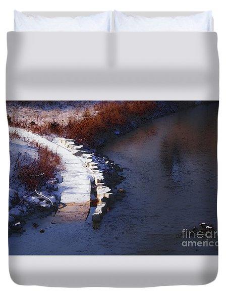 33rd And Canal Duvet Cover by David Blank
