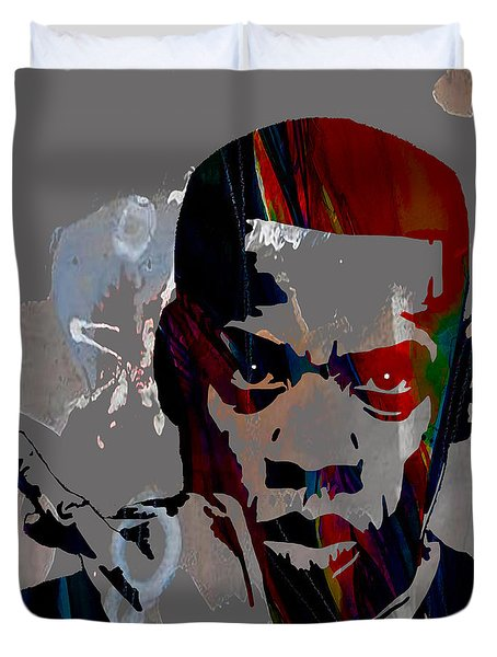 Jay Z Collection Duvet Cover by Marvin Blaine