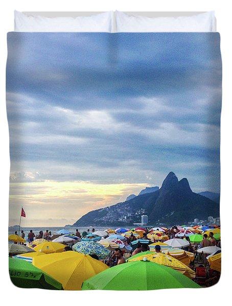 Rio De Janeiro Duvet Cover by Cesar Vieira