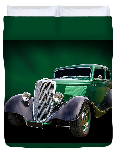 Duvet Cover featuring the photograph 34 Tudor by Keith Hawley